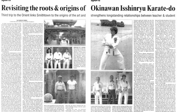 Revisiting the roots & origins of Okinawan Isshinryu Karate-do