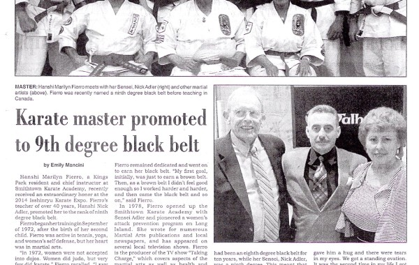 Karate master promoted to 9th degree black belt